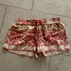 Never worn Joie print silk shorts from Saks